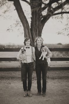 Wedding: ♥Katie and Rachelle♥   A Bicycle Built For Two { Real Wedding Inspiration for Lesbians, Queers and Everyone Else }
