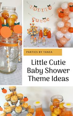 Interested in a cute, gender-neutral baby shower theme? This Little Cutie baby shower is so in right. - Interested in a cute, gender-neutral baby shower theme? This Little Cutie baby shower is so in right. Parties By Tanea Peach Baby Shower, Baby Shower Fruit, Baby Shower Niño, Baby Shower Games, Baby Shower Parties, Baby Shower Themes Neutral, Unique Baby Shower Themes, Cute Baby Shower Ideas, Baby Girl Shower Themes