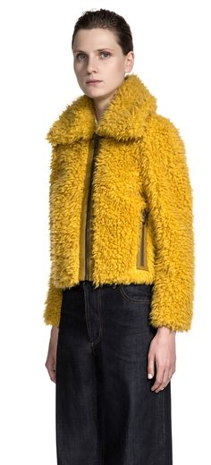 Welcome to BIMBA Y LOLA: Bags, Apparel, Shoes, Accessories and Jewellery. Visit the website and get inspired by the new collection. Fur Jacket, Fur Coat, My Favorite Color, My Favorite Things, Dress Codes, Yellow, Jackets, Collection, Dresses
