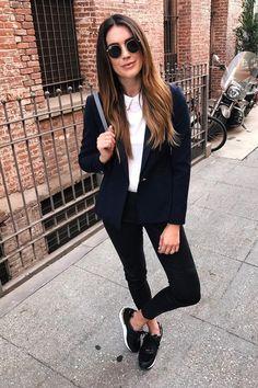 16 Outfits con blazers para verte chic en la universidad