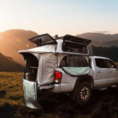 Shop - TopperLift I an thinking about using this idea on a smallish cuddy.... Truck Bed Tent, Truck Bed Camping, Jeep Camping, Camping Hammock, Tiny Trailers, Camper Trailers, Ford Ranger Camper, Motor Home Camping, Toyota Camper