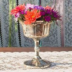 copper mercury glass vase - Google Search