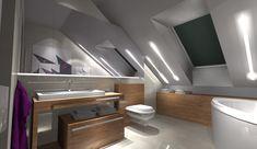 Attic Bathroom, Flat Screen, Bathtub, Rooms, House, Home Decor, Beautiful, Homes, Blood Plasma