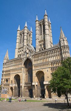 Lincoln Cathedral, Lincolnshire, England. For 300 years Lincoln Cathedral was the tallest building in the world.