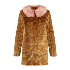 Shrimps Fifi leopard-print faux-fur coat ($355) ❤ liked on Polyvore featuring outerwear, coats, pattern coat, polka dot coat, shrimps coat, leopard print coats and faux fur coat