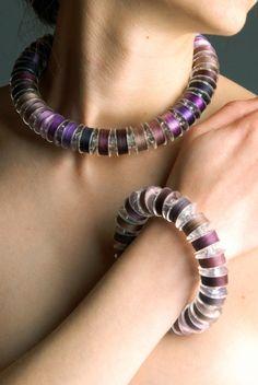 Coloured spool jewellery