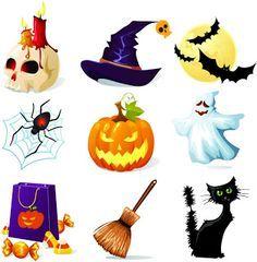 Halloween - Kit Completo com molduras para convites, rótulos para guloseimas, lembrancinhas e imagens!