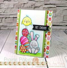 SSS Some Bunny | Zig Clean Color Real Brush Markers | AmyR 2017 Easter Card Series #2
