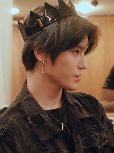"""How cute does Taeyong look in the black crown, my little Dark Prince 🖤"" Winwin, Nct 127, Lee Taeyong, Jaehyun Nct, K Wallpaper, Kim Jongin, Fandoms, Wattpad, Mark Lee"
