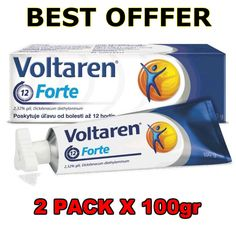 2 Χ 100gr Voltaren Emulgel Forte 2% Gel Back Pain Extra Strength Relieve Cream #2100grVoltarenEmulgelForte