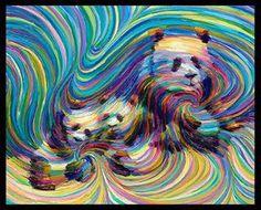 Amazing new energy paintings of Julia Watkin. Energy artist Julia Watkins is considered to be the founder of the energy art movement. Panda Family, New Energy, Beautiful Paintings, Black Art, Line Art, Cool Art, Contemporary Art, Illustration Art, Illustrations