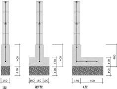 安全なブロック塀の積み方 - 外構のDIYと庭造り Concrete Blocks, Floor Plans, Cinder Blocks