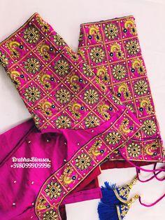 Cutwork Blouse Designs, Best Blouse Designs, Bridal Blouse Designs, Blouse Neck Designs, Peacock Embroidery Designs, Mirror Work Blouse Design, Saree Tassels Designs, Blouse Designs Catalogue, Maggam Work Designs