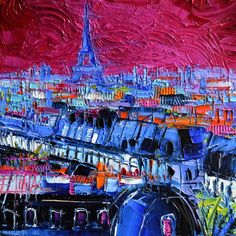 Buy PINK PARIS - contemporary impressionist palette knife oil on canvas, Oil painting by MONA EDULESCO on Artfinder. Discover thousands of other original paintings, prints, sculptures and photography from independent artists.