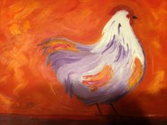 Sweet Hen. Zoe Kelly-Soldner. Abstract oil on canvas.
