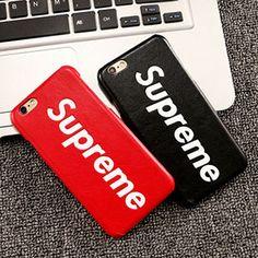 シュプリーム iphoneケース Supreme iphone7ケース ペア iphone7 plusケース カップル用アイフォン7ケース レッド ブラック アイホン7プラスケース ブランド iphone6s plusケース