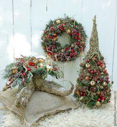 Новый год 2016 ручной работы. Новогодняя композиция. Cadeaux de Noel. Ярмарка Мастеров. Лес, Праздник