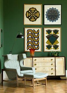 #kellywearstler #interiors #green