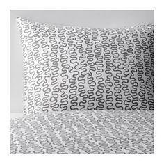 IKEA - KRÅKRIS, Duvet cover and pillowcase(s), Full/Queen (Double/Queen), , The polyester/cotton blend is easy to care for since the fabric is less liable to shrink and crease.