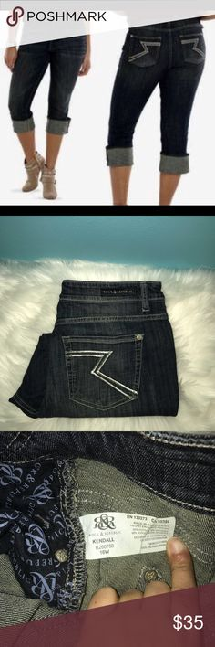 Kendall Capri Jeans Kendall Capri Jeans. Wear them folded or unfolded. 16w and 25 inches long. Rock & Republic Jeans Ankle & Cropped