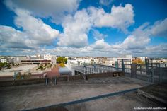 Saint Nazaire from the roof of the U-boat Base