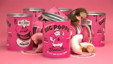 If you have a serious sweet tooth for donuts, you got to check out Big  Poppa. Created by Biggie Smallsfor their clients, a napoleon of glazed  donuts are packaged in a vibrant bespoke tube fitted with an aluminum cap.