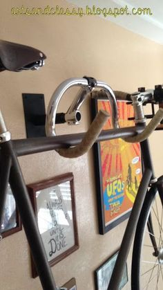 Diy Home decor ideas on a budget. : DIY Creative Bicycle Hanger Simple Storage Solution - For more great pics, follow www.bikeengines.com