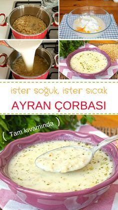 Tam kıvamında ölçüleri ile buğdaylı Ayran Çorbası - ister sıcak ister soğuk tüketebilirsiniz. #çorba #ayrancorbasi #ayrançorbası #nefisyemektarifleri #nefis #soup #souprecipes #recipes