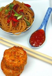 Thai Fish Cakes and Noodles