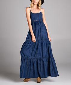 Look what I found on #zulily! Denim Tiered Maxi Dress #zulilyfinds