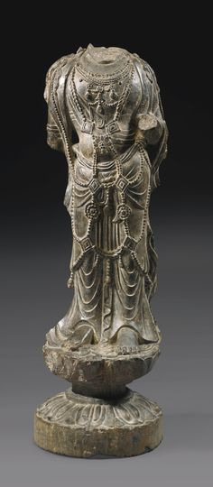 A RARE GRAY STONE TORSO OF A BODHISATTVA<br>TANG DYNASTY | lot | Sotheby's