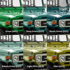 FJ 40s in Shades of green