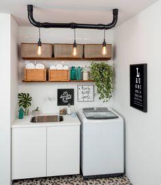 """1,941 curtidas, 15 comentários - DIY Home  (@diyhomebr) no Instagram: """"Lavanderia projetada pela designer de interiores Patrícia Ribeiro. Ótima inspiração pra levar…"""""""