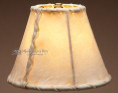 "Southwestern Rawhide Lamp Shade 8"" - Mission Del Rey Southwest"