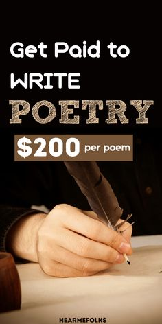 Get paid to write poetry online! Are you an amateur poet? Do you want to earn money selling your poems? Then get ready to be paid to write poetry online! Online Jobs For Moms, Online Work, Make Money Writing, Make Money Blogging, Make Money From Home, Way To Make Money, Poetry Online, Earn Extra Money Online, Work From Home Companies