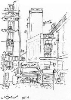 Rue René Boulanger à Paris, le 27 février 2013. Feutre.