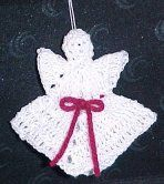 "Little Angel Ornament - Pattern courtesy of Crochet ""N"" More."