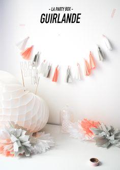 pastel, cristal, party, guirlande, papier crépon, ponpons, ananas, pineapple  http://lapartybox.wix.com/lapartybox#!Pastel-party/cmbz/DFDAD12F-28E3-46AB-85CE-0A2328F925B6