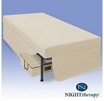 """Night Therapy 6"""" Youth Memory Foam Mattress Set - Tan - Full by Night Therapy. $280.99. Steel frame foundation assembles in minutes without tools. Decorative bedskirt matches the color of the mattress. Full mattress dimensions: 54"""" x 75"""" x 6""""  Steel frame foundation: 53"""" x 74"""" x 14"""". Night Therapy's Youth Sleep Solution is a complete bed set with moisture barrier mattress, steel foundation frame, bed skirt and bonus underbed storage unit.. Bonus durable under b..."""