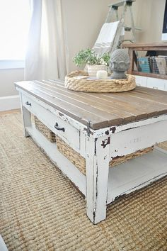 40 Best Coffee Table Redo Images On Pinterest Painted Furniture Refurbished And Recycled