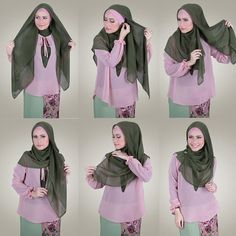 loose square hijab tutorial