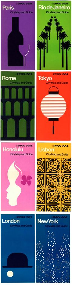 Pan Am brochures. A quintessential example of Swiss design in advertising.