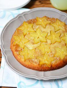 Starfruit Upside-Down Cake! bethcakes.com