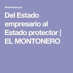 Del Estado empresario al Estado protector   EL MONTONERO