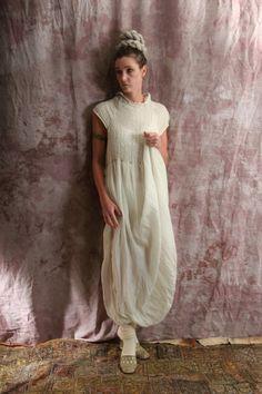 silk linen ecotton slow fashion artisanal layered look.