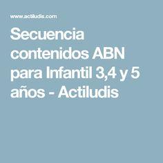Secuencia contenidos ABN para Infantil 3,4 y 5 años - Actiludis