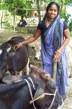Woman and her cows, Bangladesh. Photo by WorldFish, 2004 by The WorldFish Center, via Flickr