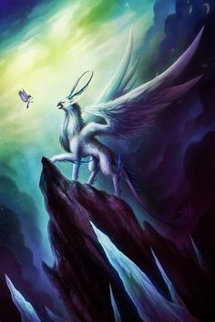 Gryphon Painting Print on Wrapped Canvas