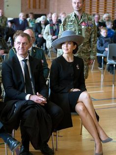 Crown Princess Mary of Denmark attended the 75th anniversary of the Nazi's occupation on April 9, 2015 in Aabenraa, Jutland.
