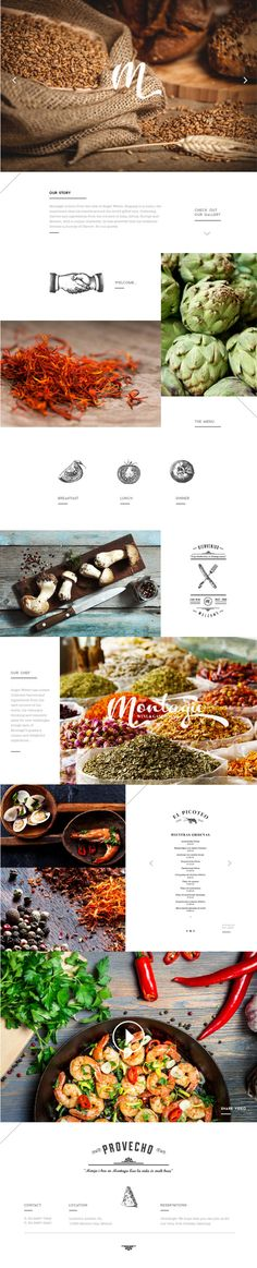 Nice mix of hand drawn illustration and lifestyle imagery, clean, Montagü by Diego Leyva, via Behance